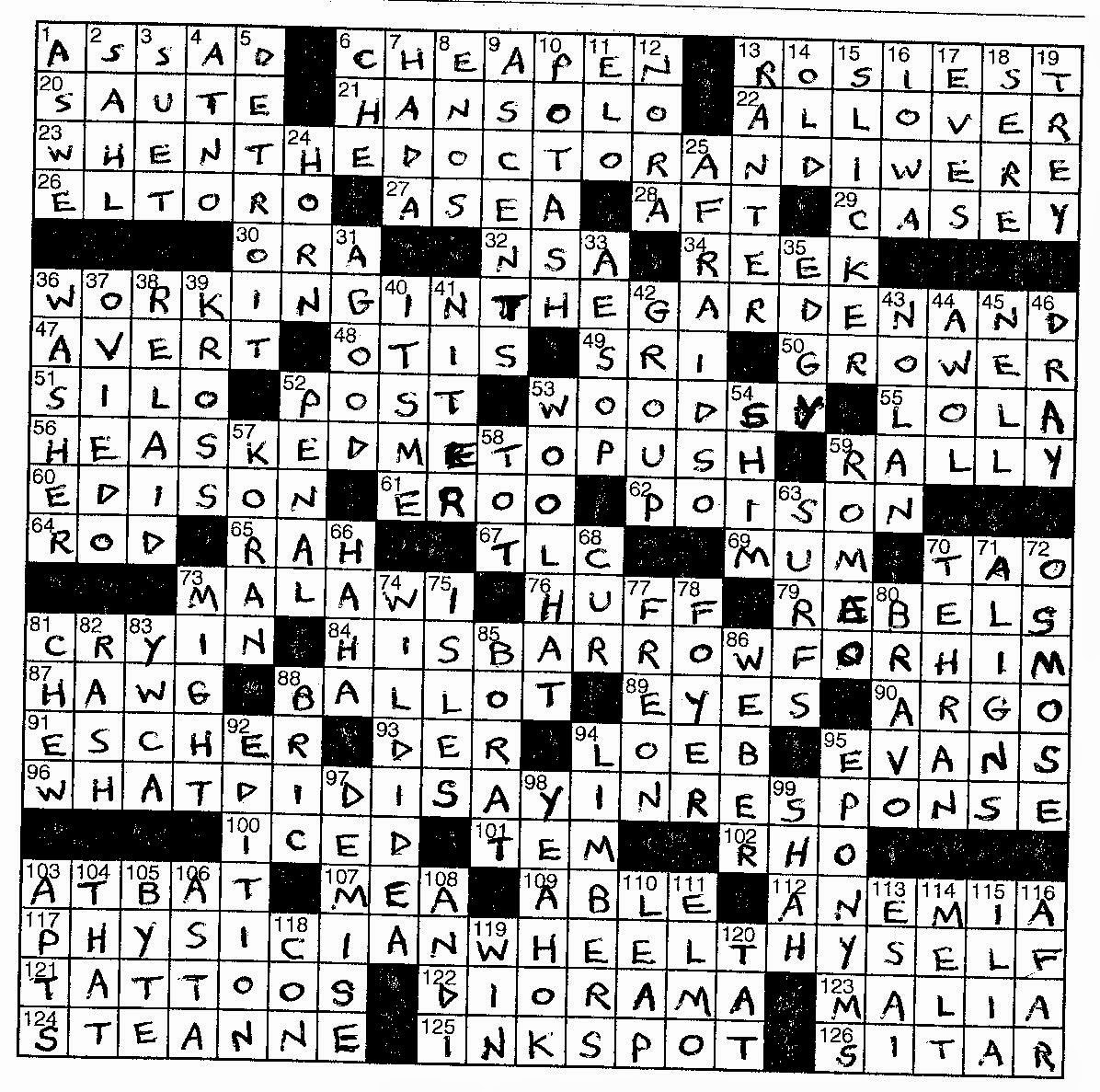 Dirigonzo solves longo november 2014 the first thing i noticed when i turned to the premier crossword by frank longo was that four of the answers span the entire width of the grid thats urtaz Images