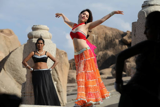 Tamanna Latest Hot Navel Stills in Tadakha Movie