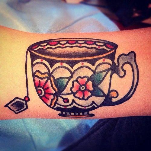 Teacup Tattoo Coffee Tattoos: TATUAJES OLD SCHOOL PARA MUJERES