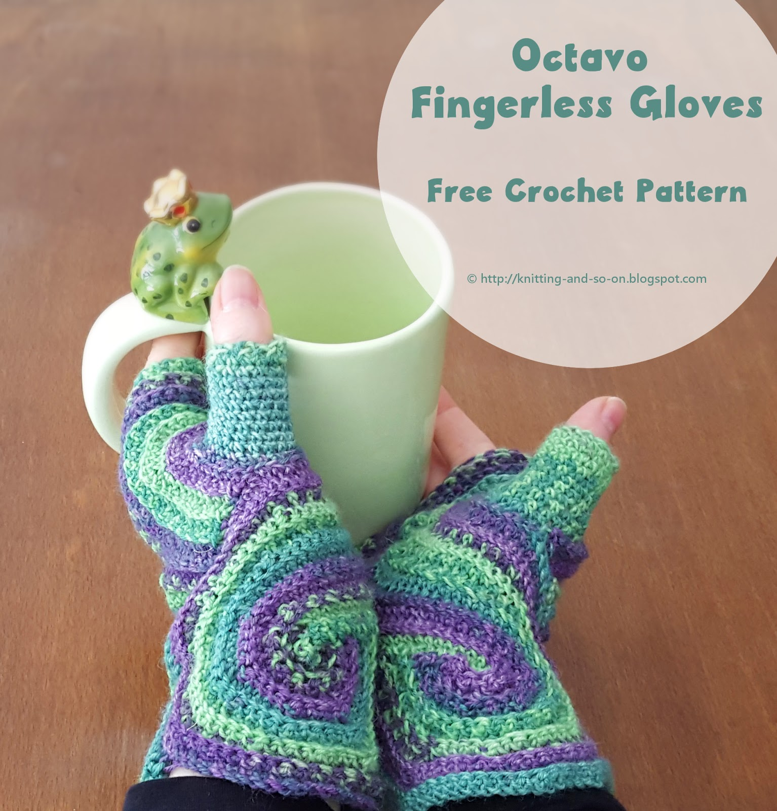 Free Crochet Patterns For Fingerless Gloves And Mitts : Knitting and so on: Octavo Fingerless Gloves