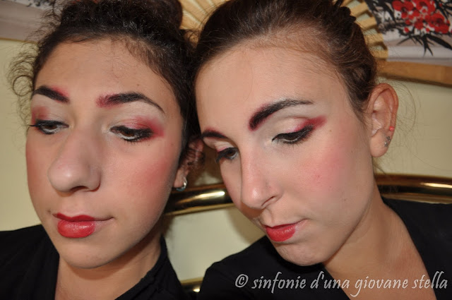 #nonsapevocosafare - geisha make up thedeathberry inspired