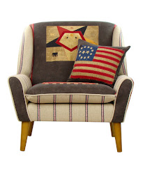 Poltrona inglese FANTE LIGHT Patchwork COLLINS & COOPER