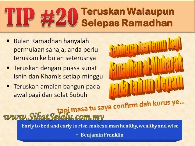 9 Tips diet di Bulan Ramadhan