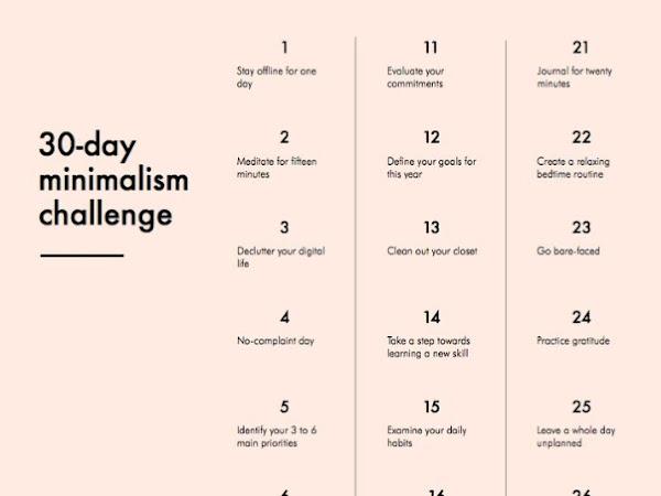 30 jours de défis pour le challenge minimalisme (vous le relevez avec moi ?)