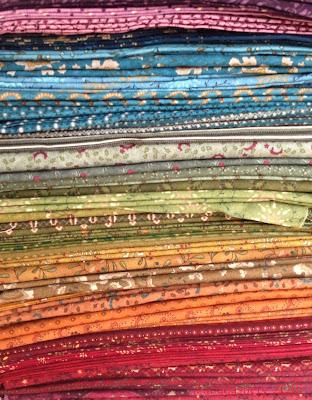 Kim Diehl fabrics for Dear Jane Quilt