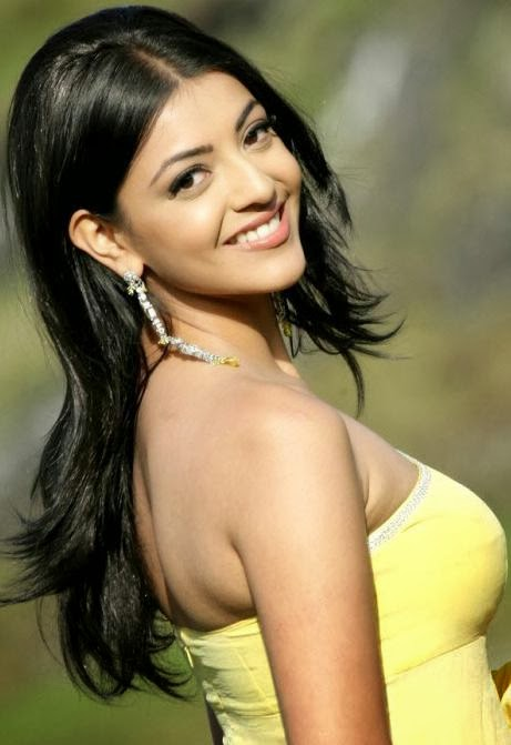 Kajal+Agarwal+Photos+in+Yellow+Dress002