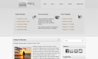 The Mez v1 Blogger Template