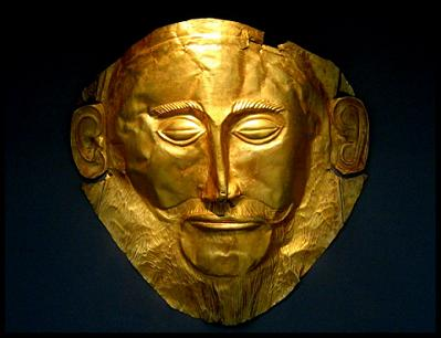 máscara, Agamenon, Micenas, Circulo A, funerario, ajuar, tumba real, micénico, aqueo, Pangea, Grecia, Prehélenica, Edad Antigua
