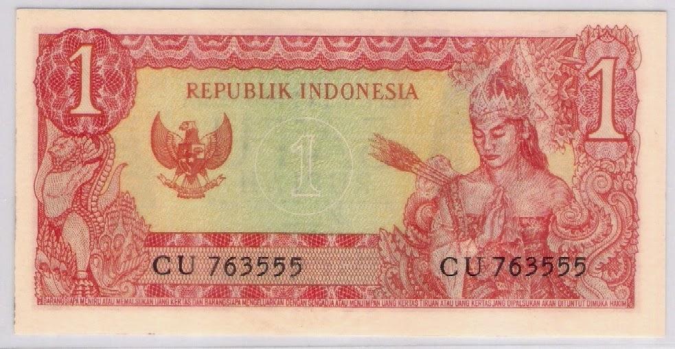 uang kuno Seri Soekarno tahun  1964 Pecahan 1 rupiah