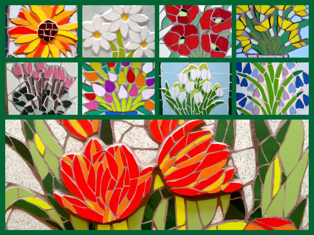 Kasia Mosaics: New Flower Designs for Upcoming Workshops