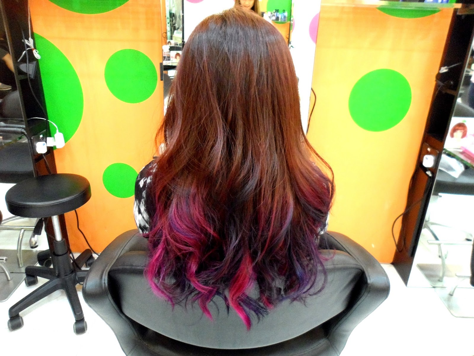 Red Purple Ombre Hair Btw, my hair has 4 hair colour
