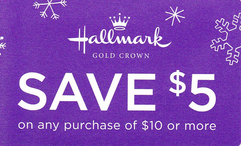 $5 Printable Hallmark Coupon
