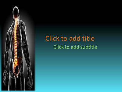 April 2013 free medical powerpoint templates medical ebooks this is a medical powerpoint template that will suit all orthopedic powerpoint presentations it has an image of the vertebral column and the spinal cord toneelgroepblik Image collections