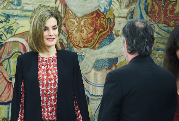 Queen Letizia Attended An Audience At Palacio De La Zarzuela In Madrid