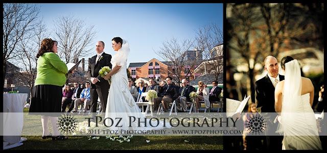 Pier 5 Hotel Garden Ceremony Wedding Photography Baltimore