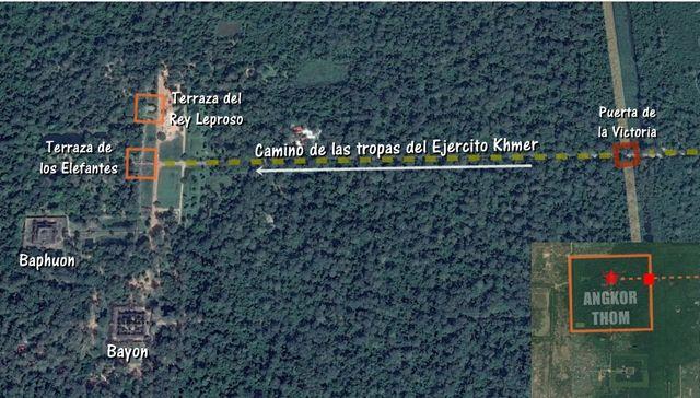 Angkor-Thom-mapa