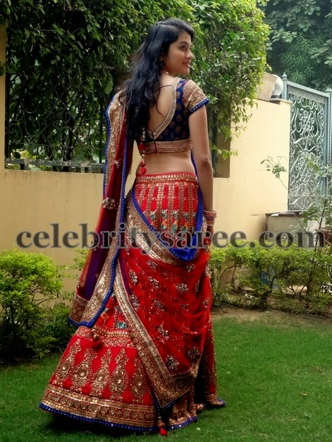 Heavy Bridal lehenga in Red
