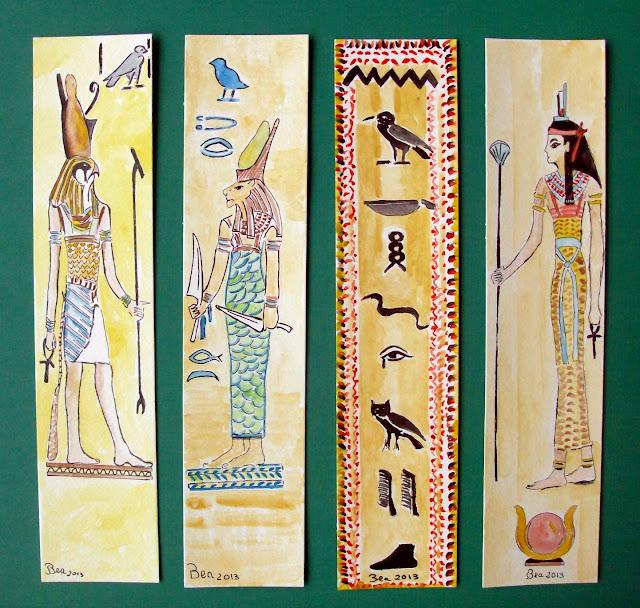 Marcadores de livros: 132_Deuses Egipcios_Horus,Sekmeth,Isis