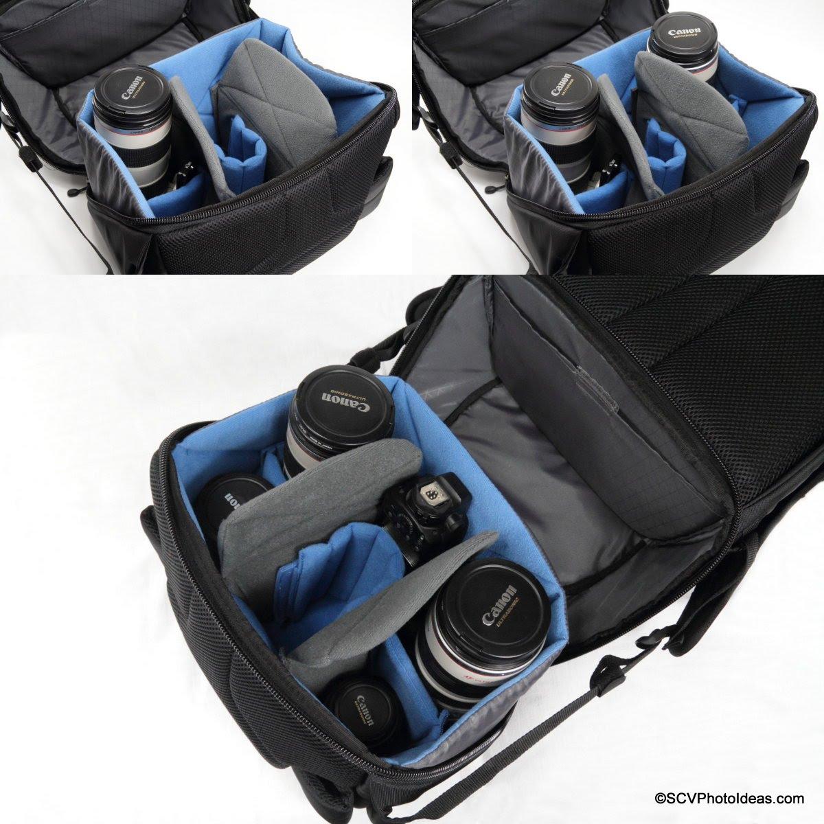 Case Logic DSB-103 main compartment configuration options