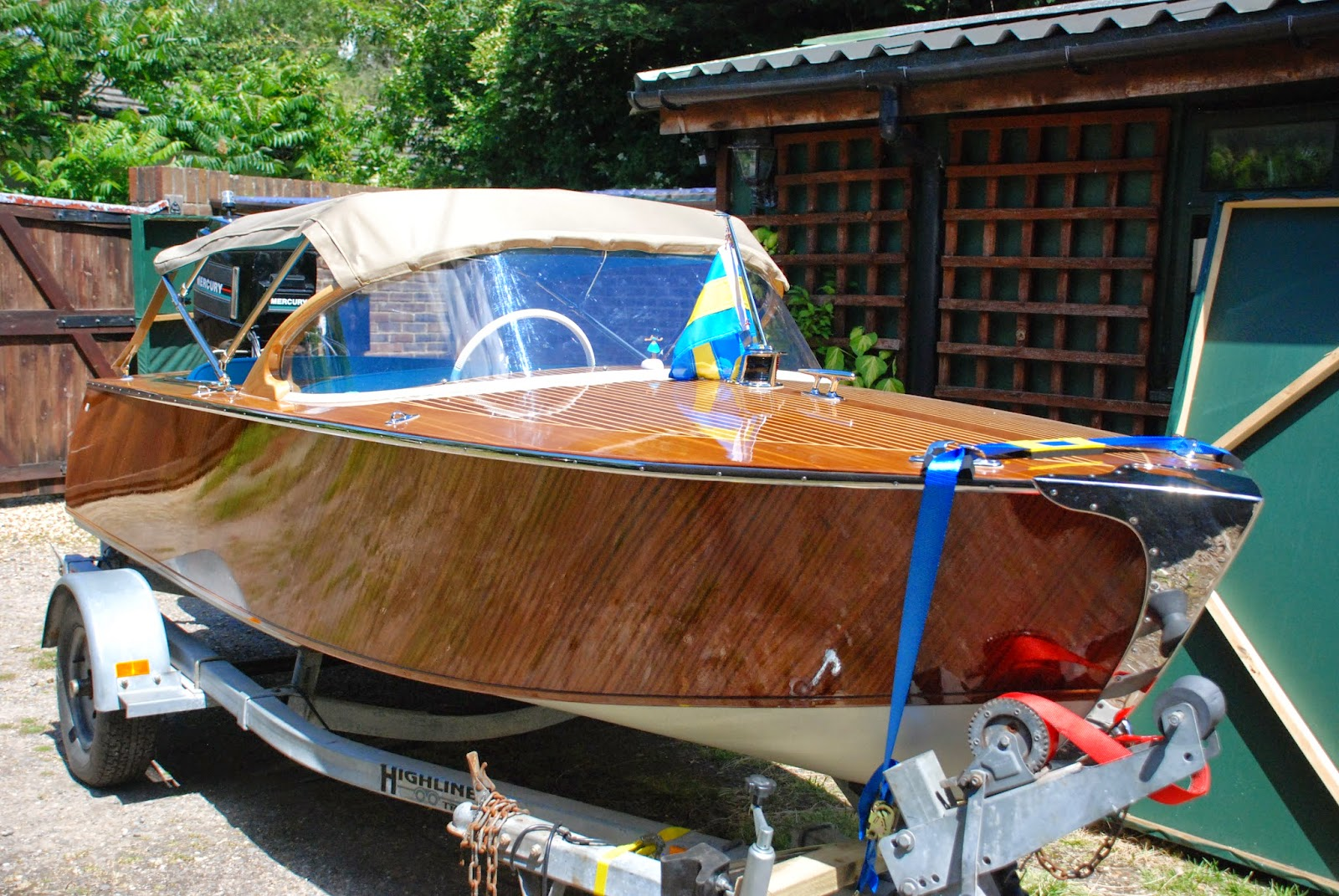 Boat canopy & my wooden speed boat build: Boat canopy
