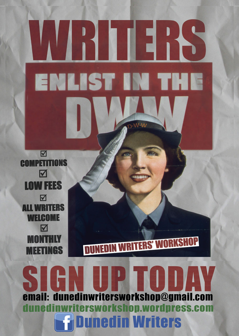 I'm a member of Dunedin Writers' Workshop