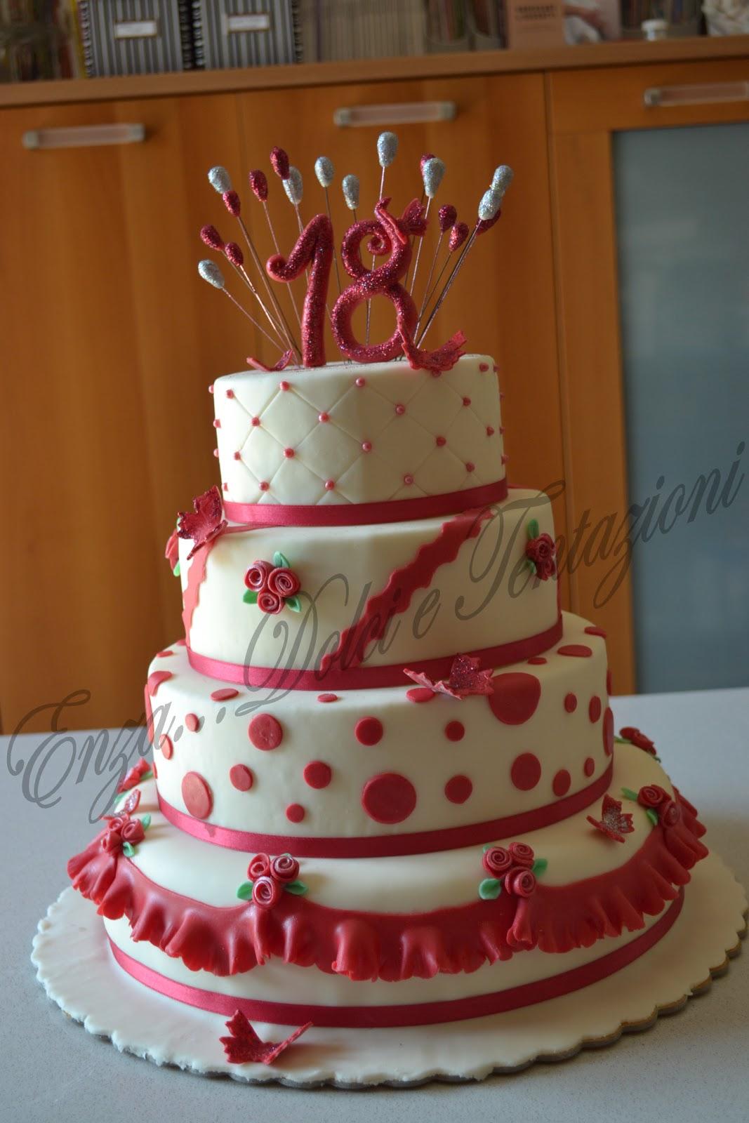 Dolci decorazionietentazioni una torta in rosso per for Piani di coperta e idee