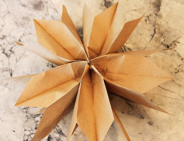 Home confetti diy paper bag stars for Diy paper stars