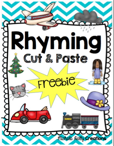 Cut and paste rhyming worksheets free