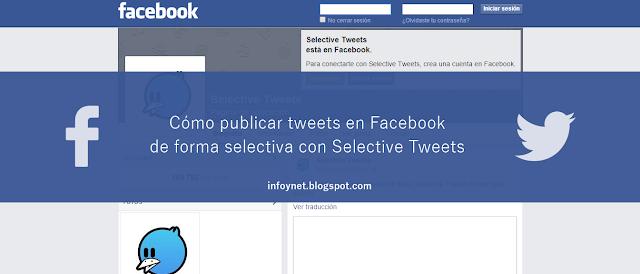 Cómo publicar tweets en Facebook de forma selectiva con Selective Tweets