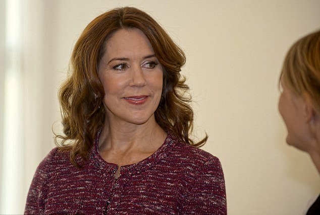Crown Princess Mary of Denmark visited the heart ward at the Herlev Hospital,