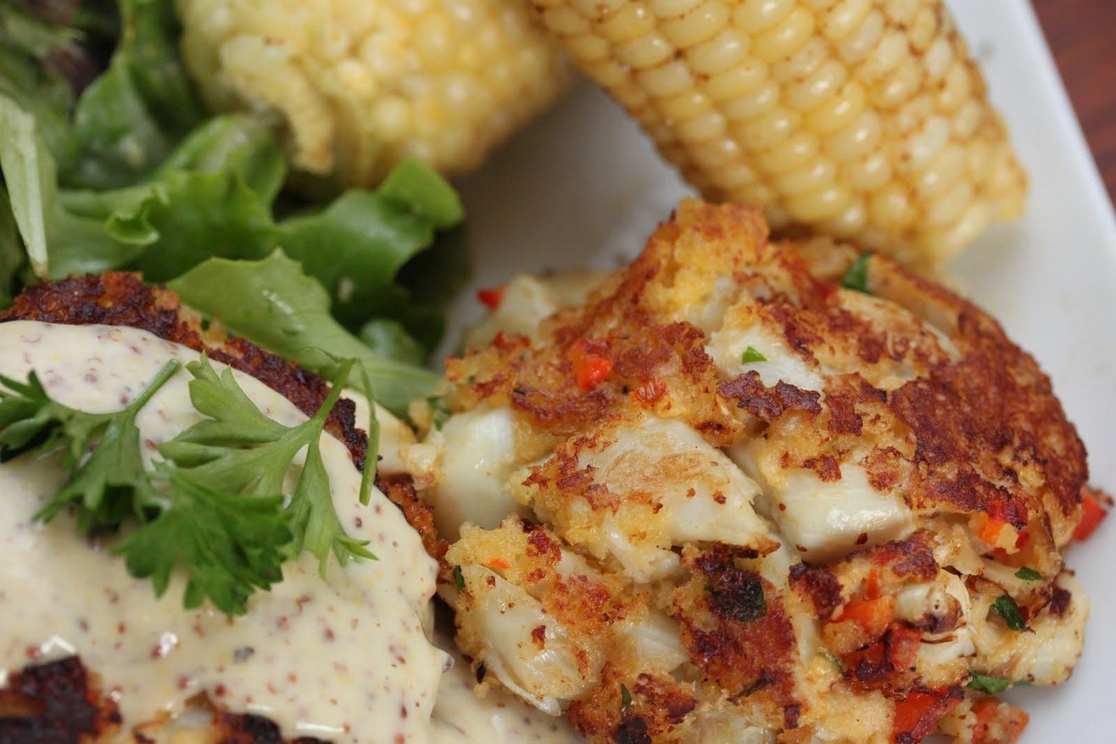 gingersnaps: chesapeake jumbo lump crab cakes with mustard creme ...