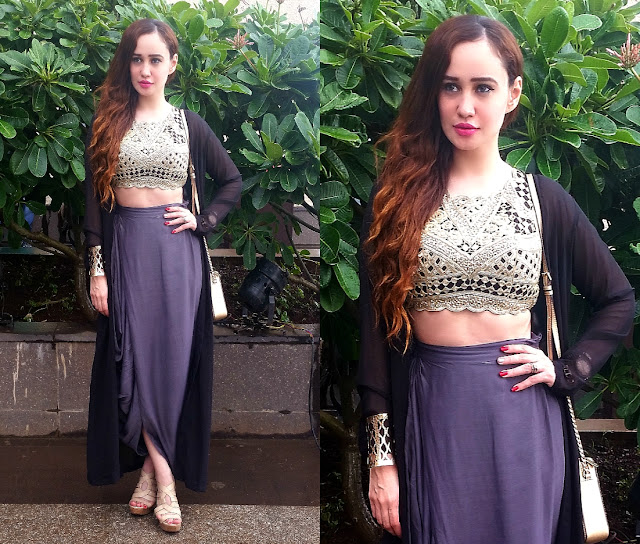 Stephanie Timmins in Arpita Mehta 'The Golden Hour & Ezra at Lakme Fashion Week Winter Festive'15