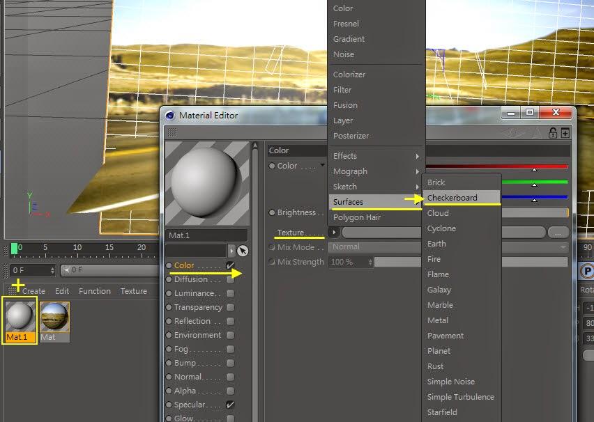 3d object on  2d image inC4D 18