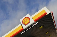 Shell branding is seen at a petrol station in west London, January 29, 2015. (Credit: Reuters/Toby Melville) Click to Enlarge.