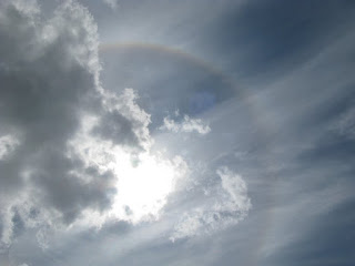 A glorious solar halo