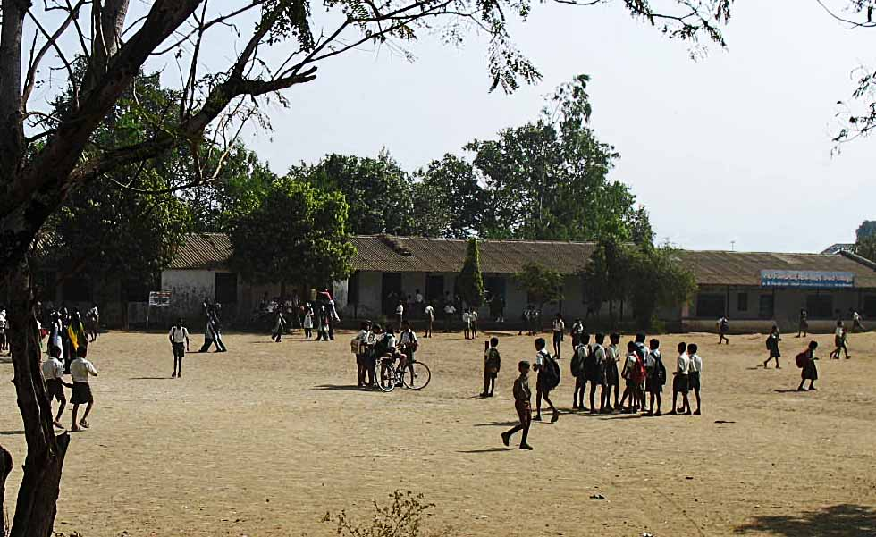 stock pictures  rural schools and playgrounds in india