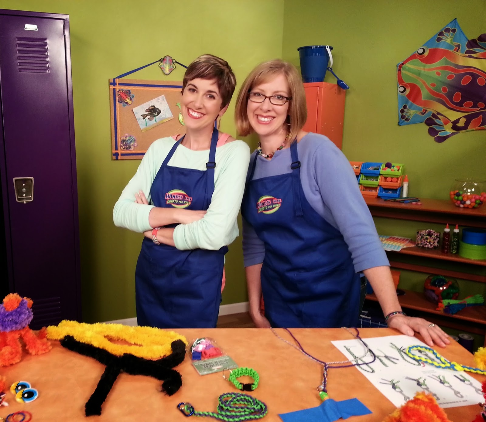 Candie Cooper and Katie Hacker. Photo courtesy of Hands On Crafts For Kids.