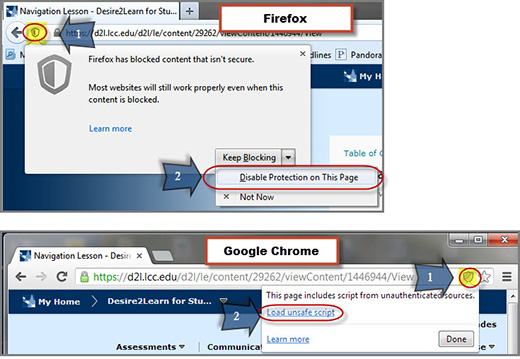 Displaying Mixed Content in Firefox and Chrome
