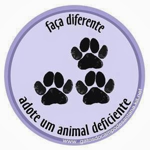 Adote um animal deficiente