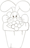 coelho no vaso