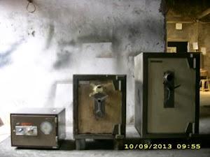 Perbaikan 2 unit Brandkas Chubb dan 1 unit Merk Daiwa
