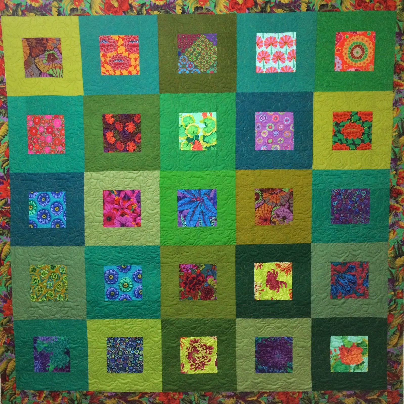 Jean Tucker's Green Block Quilt