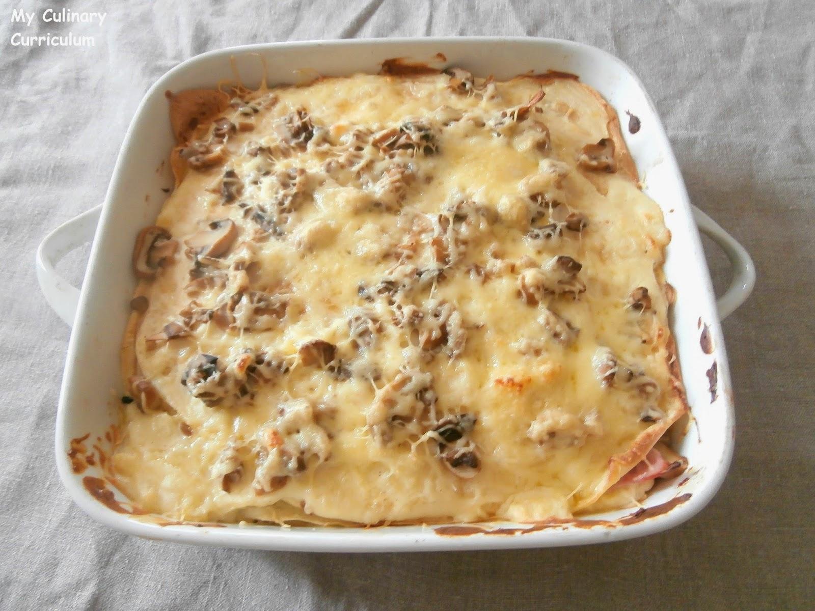 my culinary curriculum lasagnes de cr pes jambon. Black Bedroom Furniture Sets. Home Design Ideas
