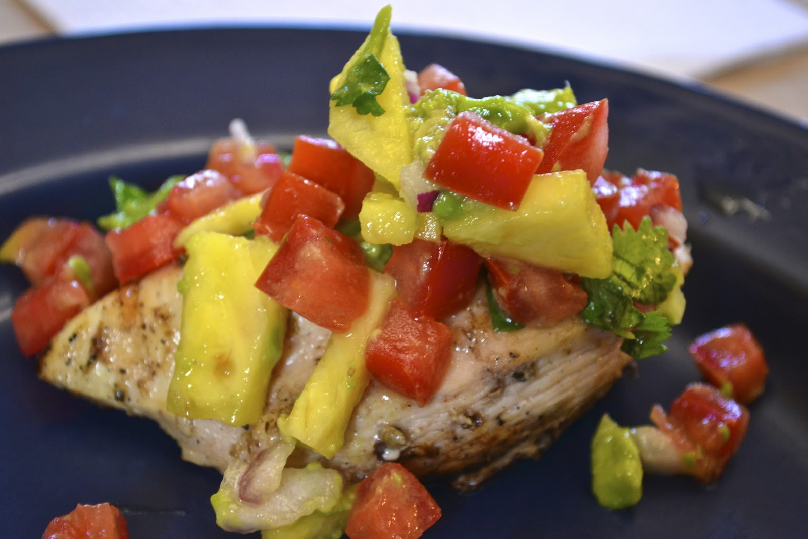 "... Point-less"" Meals: Grilled Caribbean Lime Chicken with Pineapple Salsa"