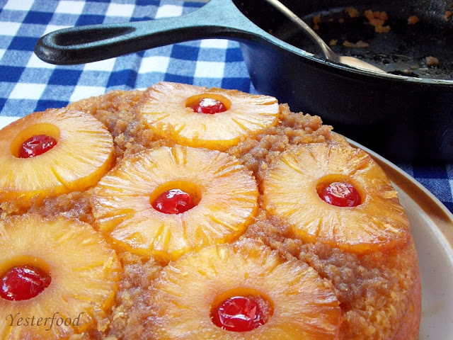 Pineapple Upside Down Cake Yellow Cake Mix Iron Skillet
