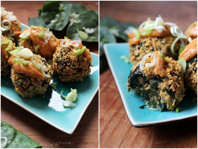 spinach chia bites