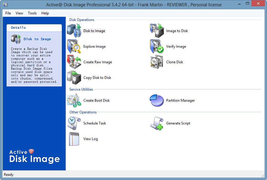 Active @ Disk Image Professional for Windows