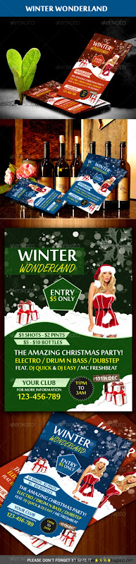 Winter Wonderland Party Flyer by Mehrodesigns  GraphicRiver