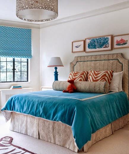 Ideas para decorar dormitorios color turquesa - Ideas para decorar habitacion matrimonial ...