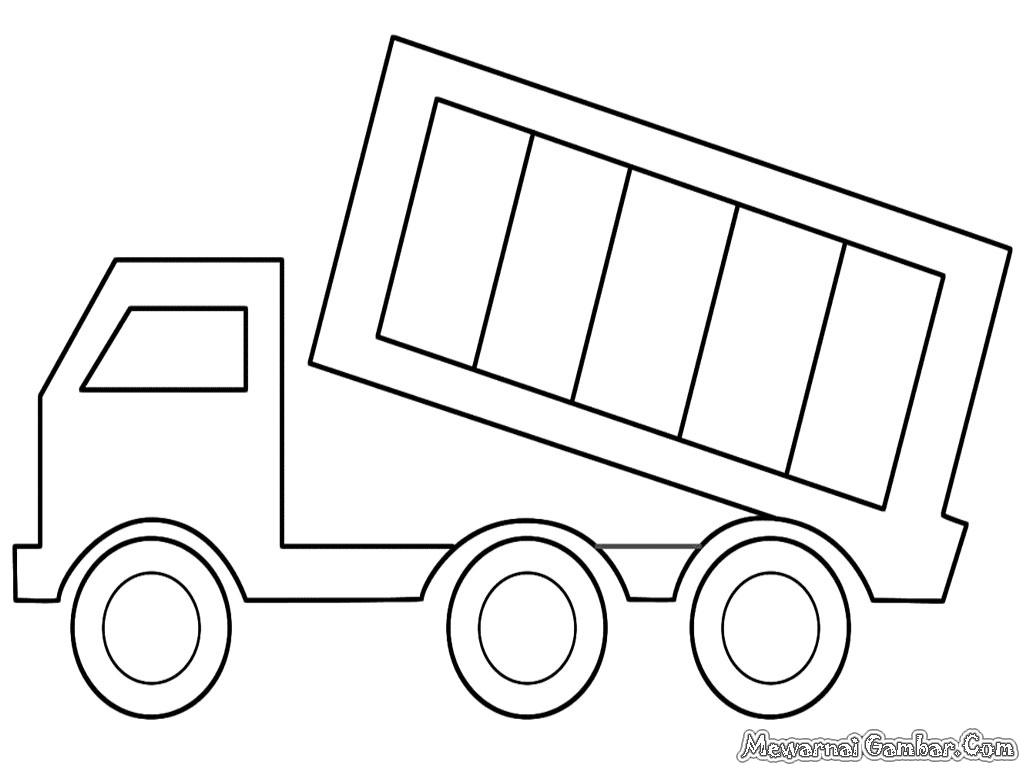 construction truck coloring pages - mewarnai mobil dump truk mewarnai gambar